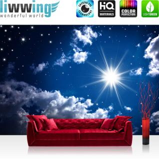 liwwing Vlies Fototapete 200x140 cm PREMIUM PLUS Wand Foto Tapete Wand Bild Vliestapete - ROMANTIC STARS - Sternenhimmel Stars Sterne Leuchtsterne Nachthimmel - no. 023