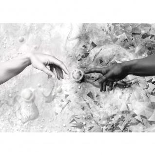 Fototapete Kunst Tapete Erschaffung Adams, Michelangelo, Black & White schwarz - weiß | no. 3275