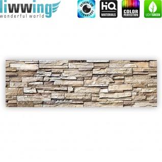 Leinwandbild Noble Stone Wall - natural Steinoptik Steinwand Stonewall Steine   no. 135 - Vorschau 4