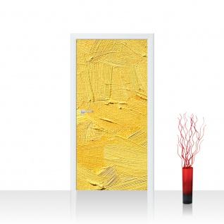 Türtapete - Wall of yellow shades Wand Spachtel Hintergrund farbige Wand gelb | no. 107