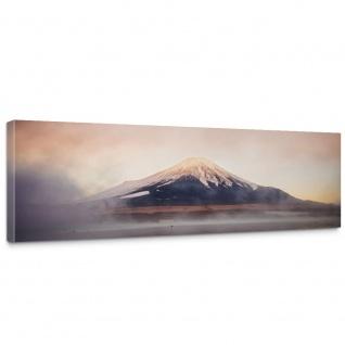 Leinwandbild Gebirge Himmel Wolken Sonne Wasser | no. 262