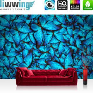 liwwing Vlies Fototapete 400x280 cm PREMIUM PLUS Wand Foto Tapete Wand Bild Vliestapete - Tiere Natur Schmetterlinge - no. 192