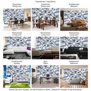 liwwing Vlies Fototapete 416x254cm PREMIUM PLUS Wand Foto Tapete Wand Bild Vliestapete - 3D Tapete Abstrakt Muster Rechtecke Formen schwarz weiß - no. 2398 - Vorschau 5