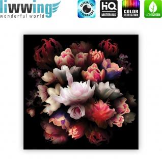 Leinwandbild Blume Bunte Rose Dunkelheit Bukett | no. 4324 - Vorschau 4