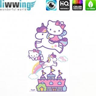 Wandsticker Sanrio Hello Kitty - No. 4628 Wandtattoo Sticker Kinderzimmer Katze Cartoon Kindersticker Mädchen