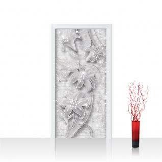 Türtapete - Ornamente Blume Blüte Perle | no. 704