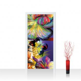 Türtapete - Abstrakt Blüten Schmetterling | no. 479