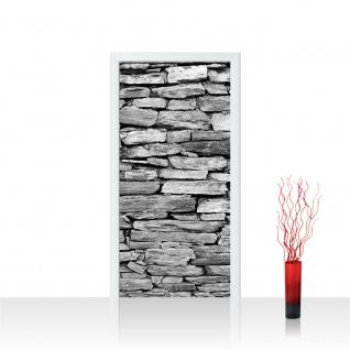 Türtapete - Steinwand Steinoptik Steine Wand Mauer Steintapete   no. 172 - Vorschau 1