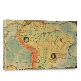 Leinwandbild Landkarte Karte Kontinent Vintage Globus Wissenschaft Kartografie Reise | no. 4313