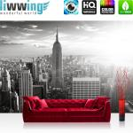 liwwing Vlies Fototapete 350x245 cm PREMIUM PLUS Wand Foto Tapete Wand Bild Vliestapete - MANHATTAN SKYLINE - New York City USA Amerika Empire State Building Big Apple - no. 015