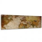 Leinwandbild Vintage Atlas Weltkarte Atlanten Karte alte Karte alter Atlas   no. 29