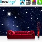liwwing Vlies Fototapete 200x140 cm PREMIUM PLUS Wand Foto Tapete Wand Bild Vliestapete - A MILLION STARS - Sternenhimmel Stars Sterne Leuchtsterne Nachthimmel- no. 028