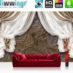 liwwing Vlies Fototapete 104x50.5cm PREMIUM PLUS Wand Foto Tapete Wand Bild Vliestapete - Kunst Tapete Streifen Linien Ecken Rechteck grau - no. 2053