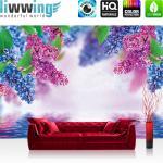 liwwing Fototapete 368x254 cm PREMIUM Wand Foto Tapete Wand Bild Papiertapete - Blumen Tapete Blume Wasser Wellness Natur bunt - no. 1210