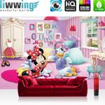 liwwing Vlies Fototapete 104x50.5cm PREMIUM PLUS Wand Foto Tapete Wand Bild Vliestapete - Disney Tapete Minnie Mouse Girls Kids Kindertapete Cartoons Comic pink - no. 1212