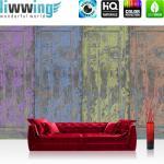 liwwing Vlies Fototapete 416x254cm PREMIUM PLUS Wand Foto Tapete Wand Bild Vliestapete - Holz Tapete Farben Malen Kunst Abstrakt bunt - no. 2520