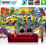 liwwing Fototapete 254x168 cm PREMIUM Wand Foto Tapete Wand Bild Papiertapete - Graffiti Tapete Kindertapete Dose Sprayer bunt - no. 342