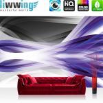 liwwing Vlies Fototapete 416x254cm PREMIUM PLUS Wand Foto Tapete Wand Bild Vliestapete - Kunst Tapete Abstrakt Design Streifen Linien Moderne lila - no. 2481