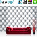 liwwing Fototapete 254x168 cm PREMIUM Wand Foto Tapete Wand Bild Papiertapete - Texturen Tapete Kunst Design Rechtecke Punkte Muster grau - no. 3003