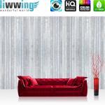 liwwing Vlies Fototapete 104x50.5cm PREMIUM PLUS Wand Foto Tapete Wand Bild Vliestapete - Holz Tapete Holzoptik Holzwand grau - no. 2641