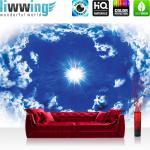 liwwing Vlies Fototapete 208x146cm PREMIUM PLUS Wand Foto Tapete Wand Bild Vliestapete - Himmel Tapete Himmel Sonne Wolken blau - no. 1630