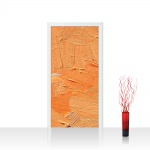 Türtapete - Wall of orange shades Wand Spachtel Hintergrund farbige Wand orange | no. 108