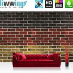 liwwing Vlies Fototapete 312x219cm PREMIUM PLUS Wand Foto Tapete Wand Bild Vliestapete - Steinwand Tapete Steinmauer Steine Deutschland Flagge bunt - no. 3110