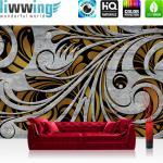 liwwing Vlies Fototapete 104x50.5cm PREMIUM PLUS Wand Foto Tapete Wand Bild Vliestapete - Wein Tapete Weintrauben Wein Berge See Häuser Landschaft grün - no. 1526