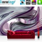 liwwing Vlies Fototapete 400x280 cm PREMIUM PLUS Wand Foto Tapete Wand Bild Vliestapete - LIQUID CLIMAX - 3D Digital Art Abstrakt Schwung Wirbel blau rot lila - no. 010