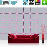 liwwing Vlies Fototapete 104x50.5cm PREMIUM PLUS Wand Foto Tapete Wand Bild Vliestapete - 3D Tapete Kacheln Lichter Kunst Design 3D Optik lila - no. 2009