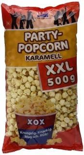 XOX Party Popcorn Karamell XXL vegan knusprig knackig 500g 4er Pack