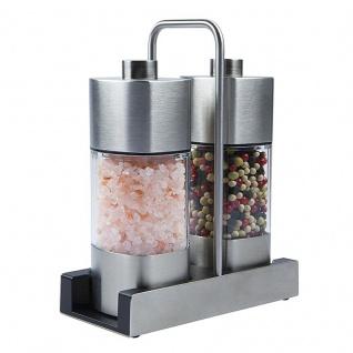 Wiberg Menage mit Salz 140g und Pfeffermühle 65g mit Keramik Mahlwerk