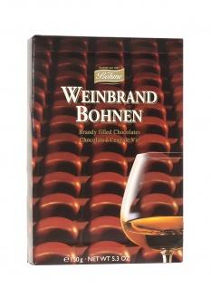 Boehme Weinbrandbohnen Schokoladen-Pralinen gefüllt mit Weinbrand 150g