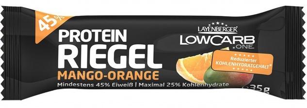 Layenberger Low Carb Riegel Mango und Orange mit Protein 35g