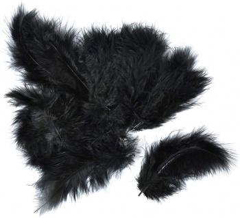 Meyco Marabu Federn in schwarz 17 Stück circa 10 bis 12cm lang