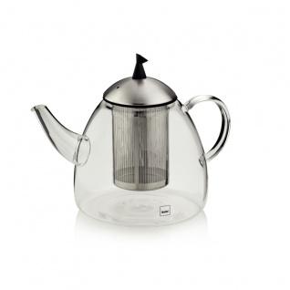 Keck und Lang Teekanne aus Glas mit Edelstahl Serie Aurora 1800 ml