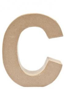 """Pappmache Buchstabe """" C"""" stehend zum basteln kreativ Rico Design Idee"""