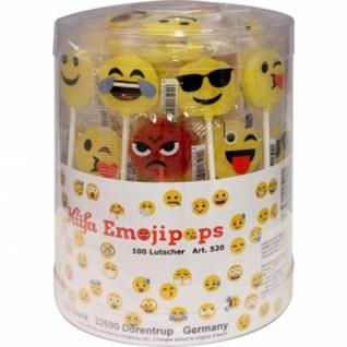 Küfa Lutscher mit Smileys Emoji Motiven 100 Stück einzeln verpackt