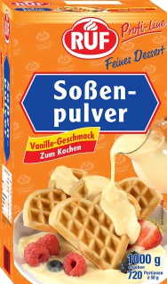RUF Soßenpulver Vanille-Geschmack zum Kochen 1000g 10er Pack
