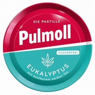 Hustenbonbons Pulmoll mit Eukalyptus und weißem Tee zuckerfrei 50g