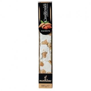 Casa Rinaldi Soft Nougat Riegel mit Mandeln italienische Spezialität 100g