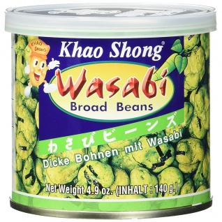 Khao Shong Dicke Bohnen mit scharfem Wasabi überzogen 140g 6er Pack