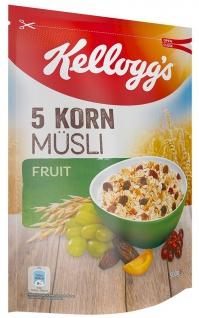 Kelloggs 5 Korn Müsli Fruit 5 verschiedene Cerealien mit Früchten 500g