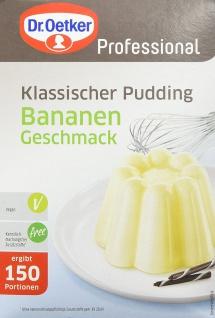 Dr. Oetker Klassischer Pudding mit Bananen-Geschmack, in 1 kg Packung