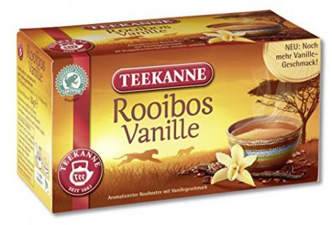 Teekanne Rooibos Vanille Tee aromatisiert mit Vanillearoma 6er Pack