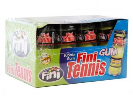 Bubble Gum Boom Tennis Balls gefüllt mit Lemon Lime Glutenfrei Display