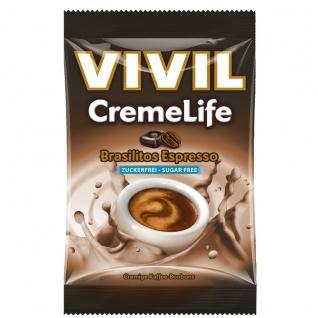 Vivil CremeLife Brasilitos Espresso Kaffee Bonbons Zuckerfrei 110g