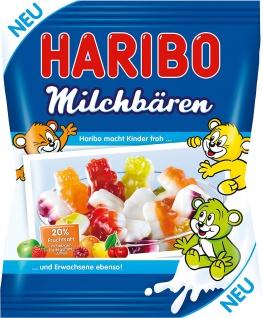 Haribo Milchbären Fruchtgummi mit Fruchtsaft und Magermilch 175g