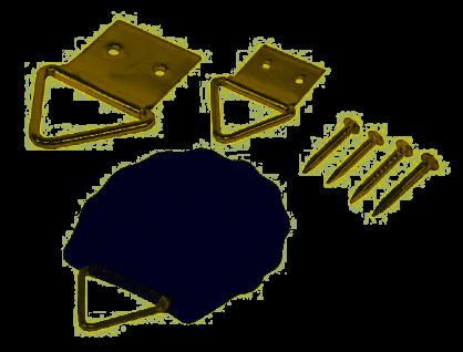 Bildaufhänger Alco inklusive passender Ösen und Nägel Größe 11mm