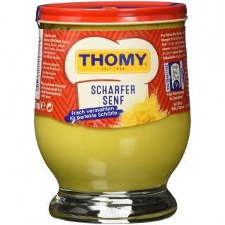 Thomy scharfer Senf frisch vermahlen der Klassiker im Glas 250ml